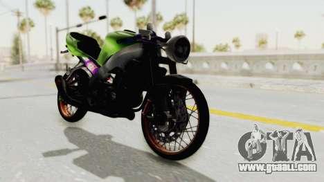 Kawasaki Ninja ZX-9R Drag for GTA San Andreas back left view