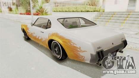 GTA 5 Declasse Sabre GT2 for GTA San Andreas upper view