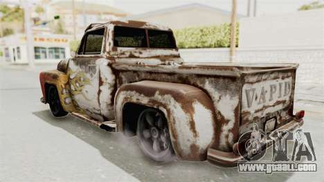 GTA 5 Slamvan Lowrider for GTA San Andreas inner view