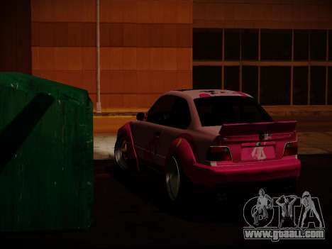 BMW M3 E36 Pinkie Pie for GTA San Andreas back view
