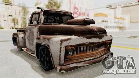 GTA 5 Slamvan Lowrider for GTA San Andreas side view