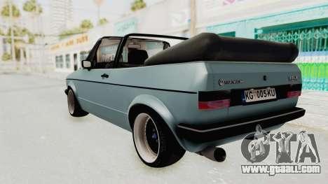 Volkswagen Golf 1 Cabrio VR6 for GTA San Andreas left view
