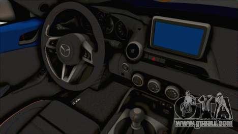 Mazda MX-5 Slammed for GTA San Andreas inner view