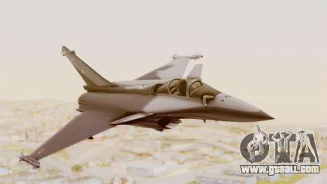 Dassault Rafale Indian Air Force for GTA San Andreas back left view