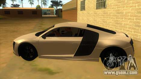 Audi R8 5.2 V10 Plus for GTA San Andreas left view