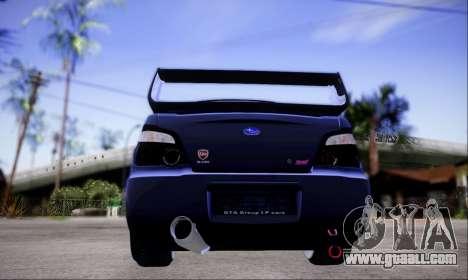 Subaru impreza WRX STi LP400 v2 for GTA San Andreas back view