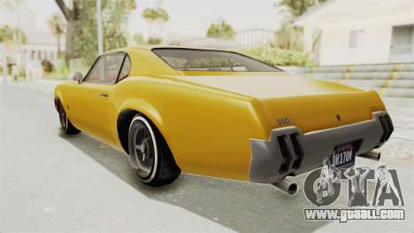 GTA 5 Declasse Sabre GT2 A IVF for GTA San Andreas left view