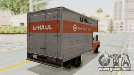 Ford F-350 U-Haul 1971 for GTA San Andreas back left view