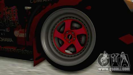 Mitsubishi Lancer Evolution X Ken Kaneki Itasha for GTA San Andreas back view