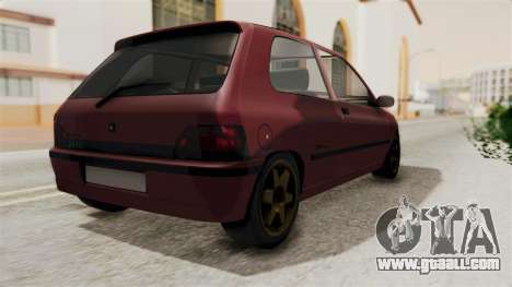 Renault Clio Williams for GTA San Andreas left view