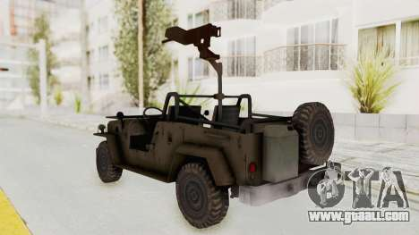 MGSV Jeep for GTA San Andreas left view
