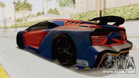 GTA 5 Pegassi Zentorno PJ for GTA San Andreas interior