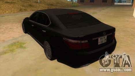 Lexus LS600HL 2008 for GTA San Andreas back left view