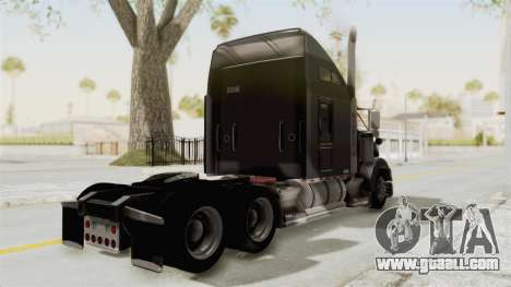 Kenworth T800 Centenario for GTA San Andreas back left view