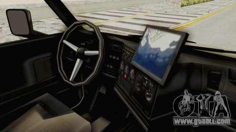 Chevrolet Kodiak Dumper Truck for GTA San Andreas back view