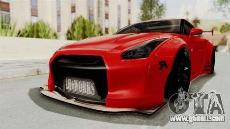 Nissan GT-R R35 Liberty Walk LB Performance v2 for GTA San Andreas back left view