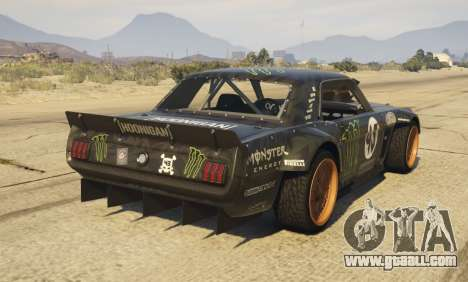 GTA 5 Ford Mustang 1965 Hoonicorn 1.2 [Replace] rear left side view