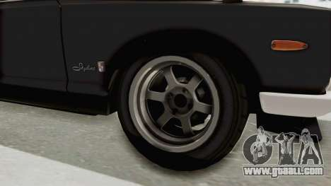 Nissan Skyline KPGC10 1971 Camber for GTA San Andreas back view