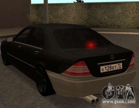 Mercedes S600 W220 JoRick Revazov for GTA San Andreas right view