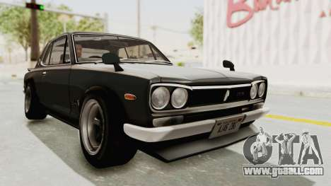 Nissan Skyline KPGC10 1971 Camber for GTA San Andreas right view