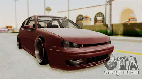 Volkswagen Golf Mk4 V5 Edited for GTA San Andreas right view