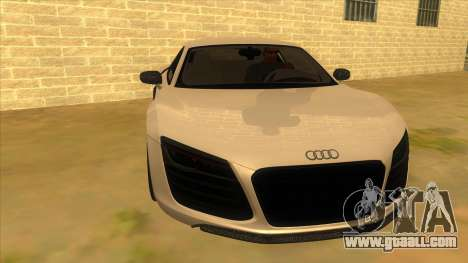 Audi R8 5.2 V10 Plus for GTA San Andreas back view