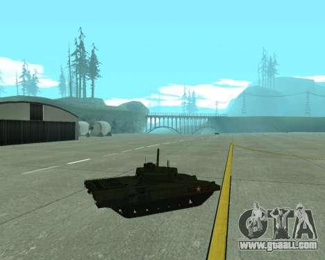 T-14 Armata for GTA San Andreas side view