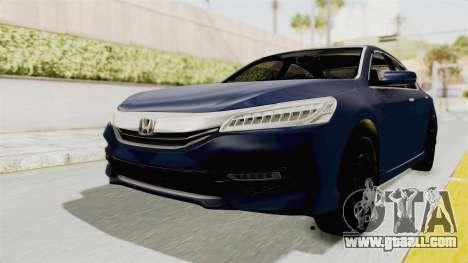 Honda Accord 2017 for GTA San Andreas back left view