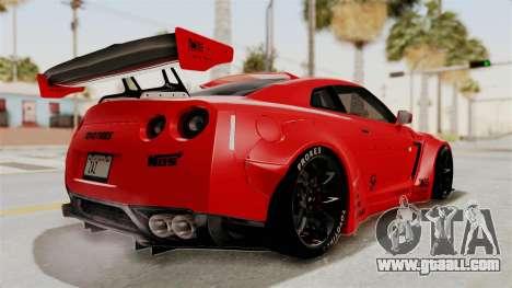 Nissan GT-R R35 Liberty Walk LB Performance v2 for GTA San Andreas right view