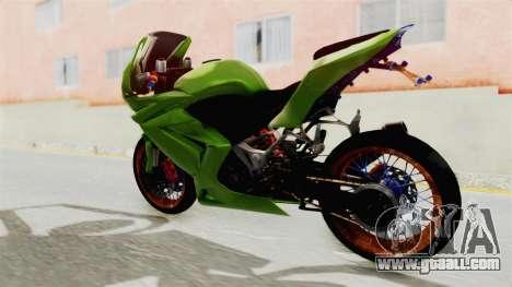 Kawasaki Ninja 250R Asian Style for GTA San Andreas back left view