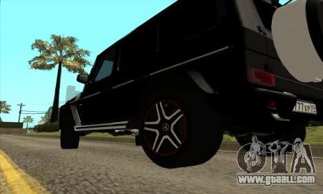 Mercedes G63 Biturbo for GTA San Andreas inner view