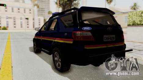 Toyota Fortuner JPJ Dark Blue for GTA San Andreas left view
