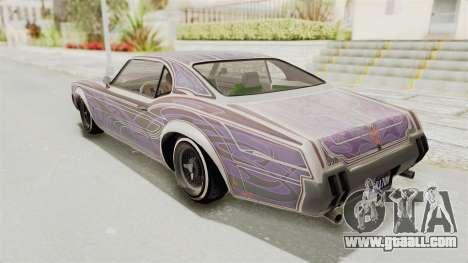 GTA 5 Declasse Sabre GT2 for GTA San Andreas