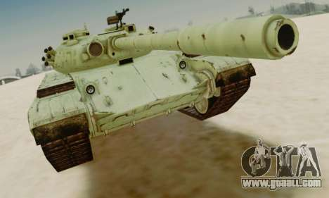 THE T-72A for GTA San Andreas left view