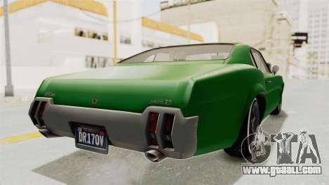 GTA 5 Declasse Sabre GT2 for GTA San Andreas back left view