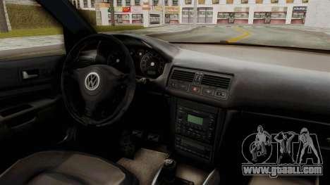 Volkswagen Golf Mk4 V5 Edited for GTA San Andreas inner view