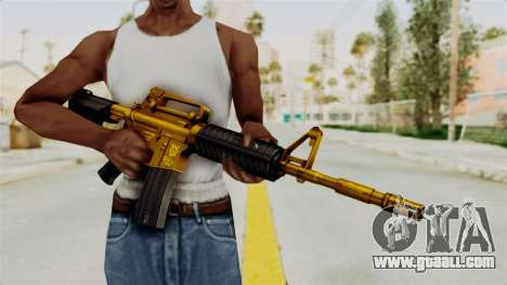 M4A1 Gold for GTA San Andreas third screenshot