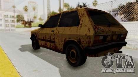 Zastava Yugo Koral 55 Rusty for GTA San Andreas left view
