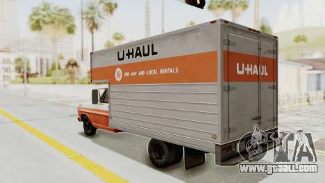 Ford F-350 U-Haul 1971 for GTA San Andreas left view