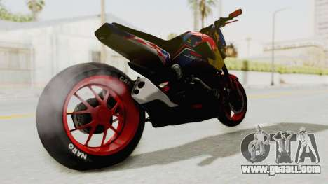 Honda MSX 125 Modified for GTA San Andreas back left view