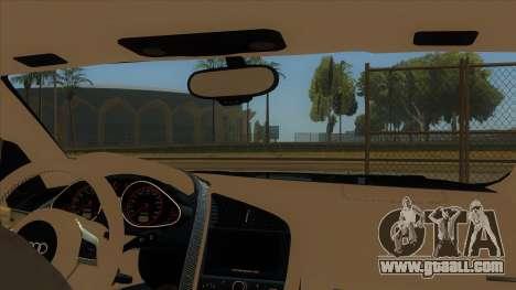 Audi R8 5.2 V10 Plus for GTA San Andreas inner view