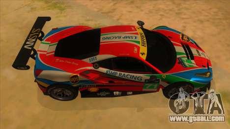 2016 Ferrari 488 GTE for GTA San Andreas inner view