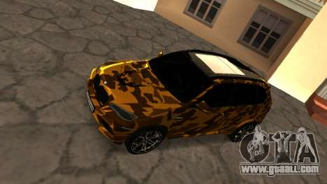 BMW X5M ( Davidich ) for GTA San Andreas back left view
