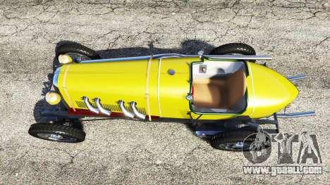 GTA 5 Fiat Mefistofele v1.2 [black tires] back view