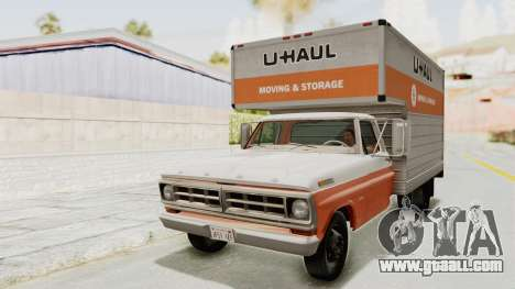 Ford F-350 U-Haul 1971 IVF for GTA San Andreas back left view