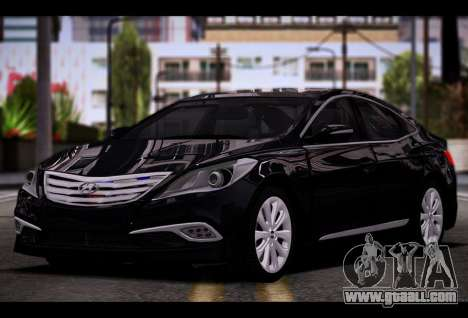 Hyundai Grandeur 2015 STOCK for GTA San Andreas back view