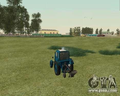 MTZ 80 Belarus for GTA San Andreas back left view