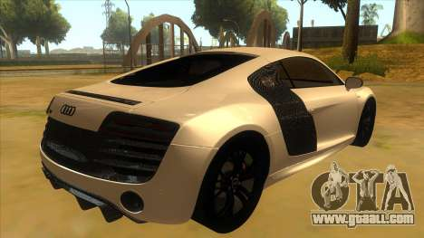 Audi R8 5.2 V10 Plus for GTA San Andreas right view