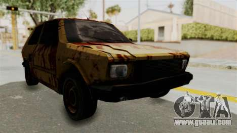 Zastava Yugo Koral 55 Rusty for GTA San Andreas right view