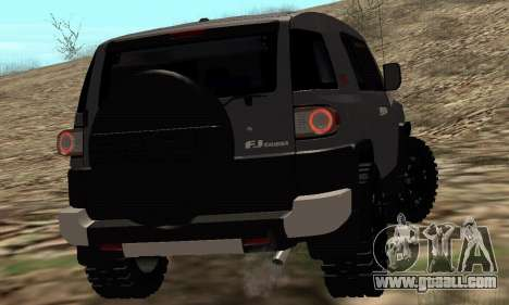 Toyota FJ Cruiser for GTA San Andreas back view